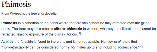 Phimosis From Wikipedia, the free encyclopedia