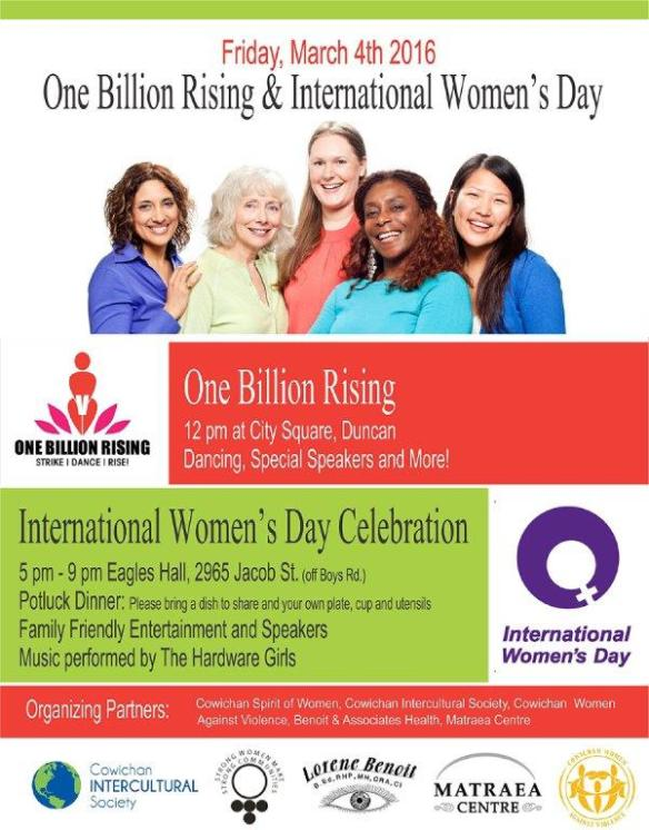 2016 Poster for Womens Day and 1 Billion