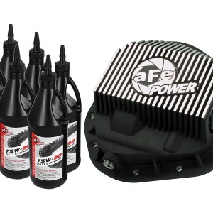 aFe POWER 46-70012-WL Rear Differential Cover, Machined Fins; Pro Series w/ Gear Oi-0