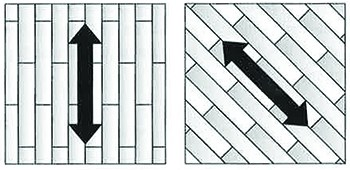 Subsequent cuts should be parallel to the length of the boards.