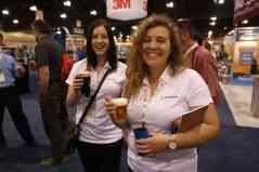 Happy Hour on the trade show floor