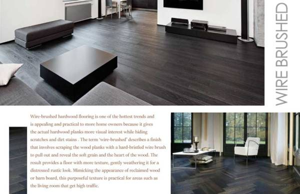 Wire-Brushed Red Oak Solid Hardwood Information