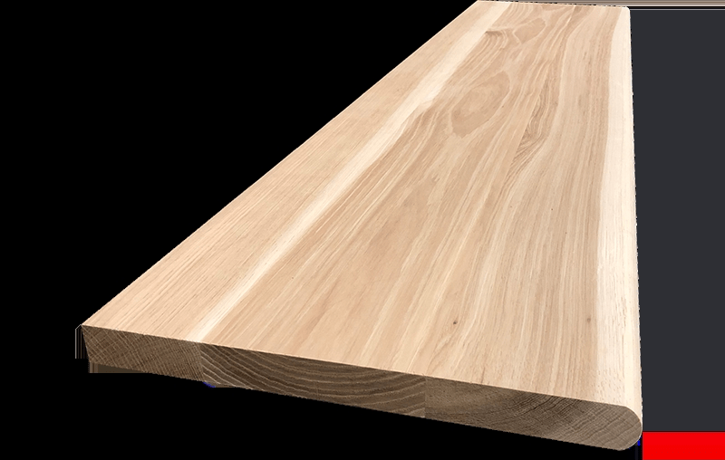 Hickory Hardwood Stair Tread – Blackford Sons Hardwood Stair Treads | Hardwood Stair Treads And Risers | Stained | Maple | Hickory | Red Oak | New