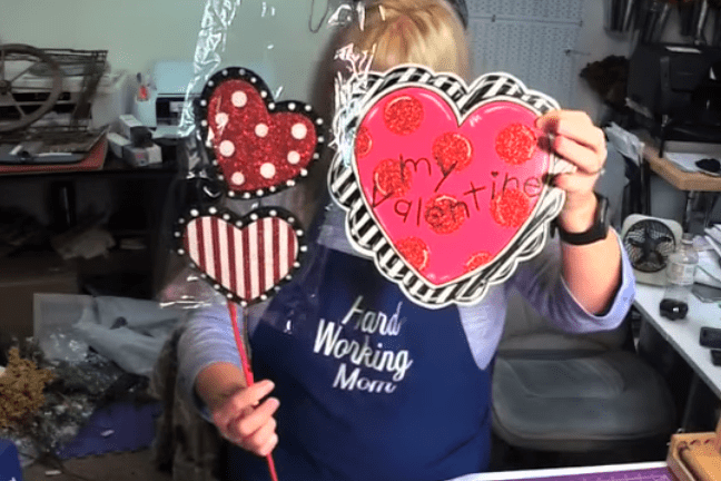 VALENTINE/'S DAY Love You More Sign wRibbon Hanger 14 12 x 9 34