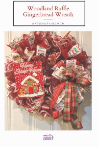 DIY gingerbread Christmas wreath