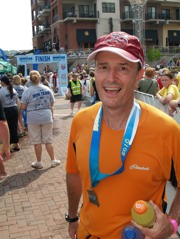 Peter with finishers medal