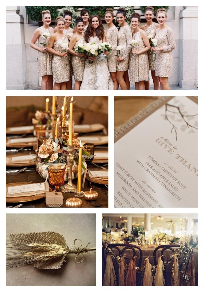 thanksgiving wedding reception
