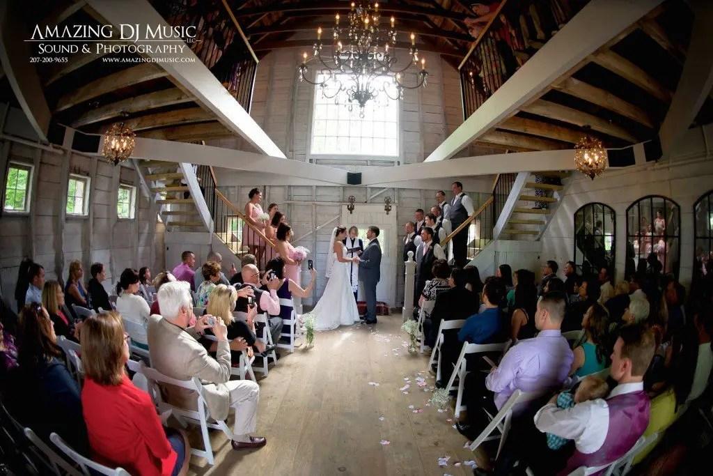 indoor maine barn wedding