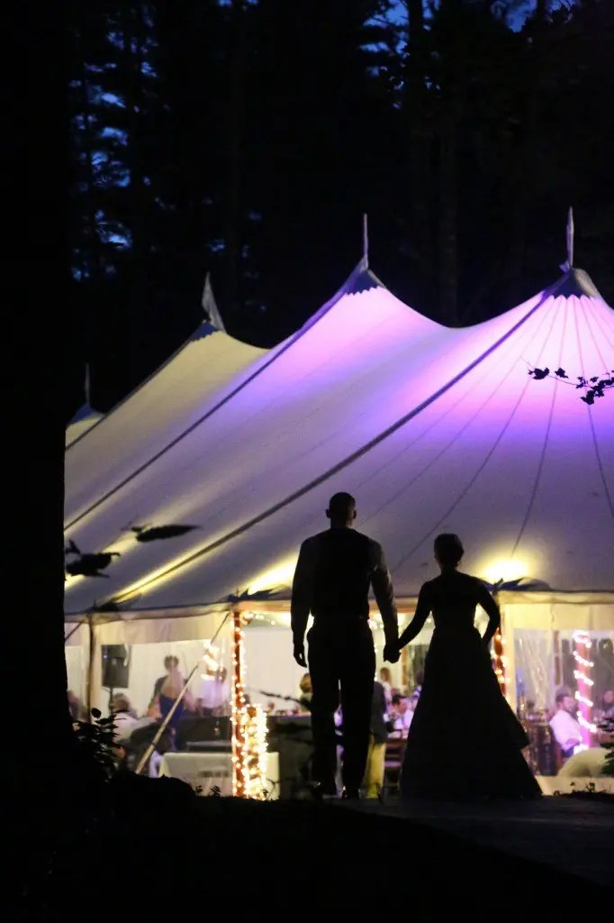 wedding with tent maine new hampshire