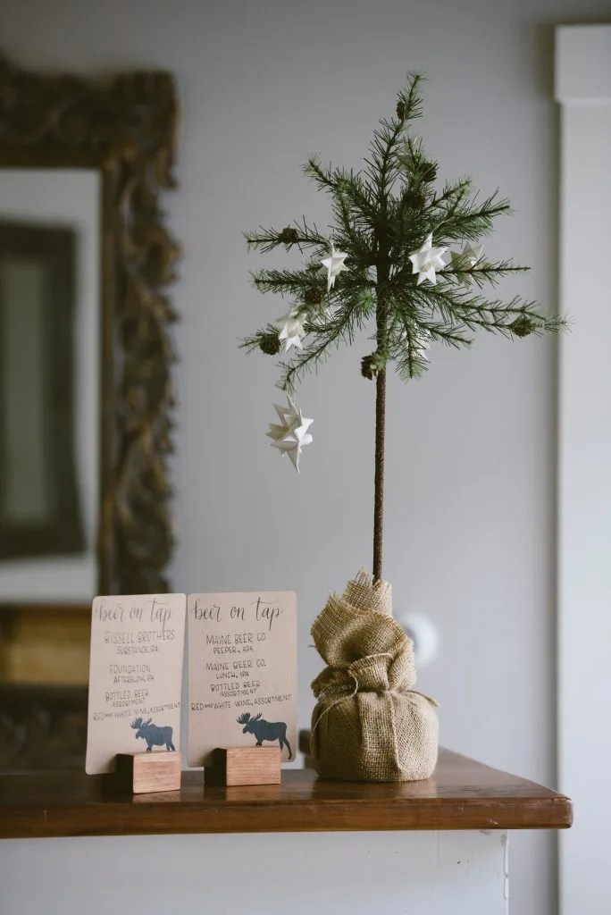 december wedding placecard
