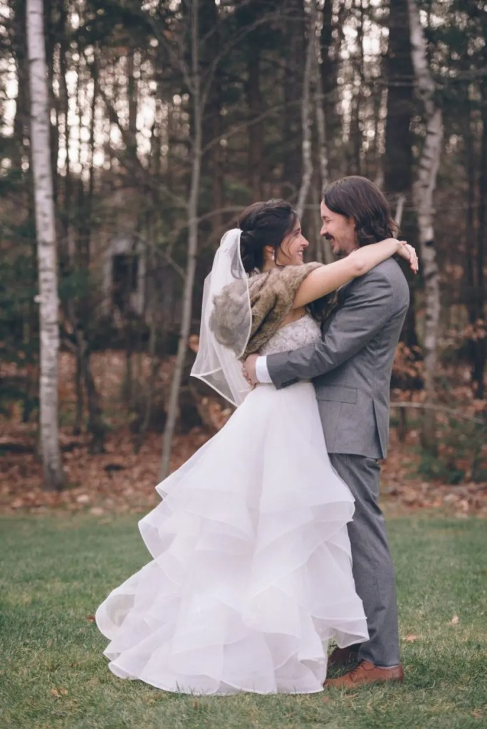 winter wedding dress maine