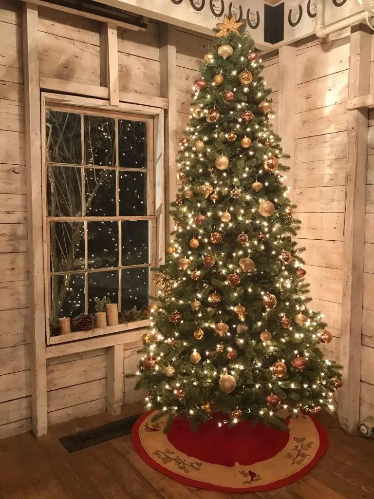 Maine barn Christmas Tree