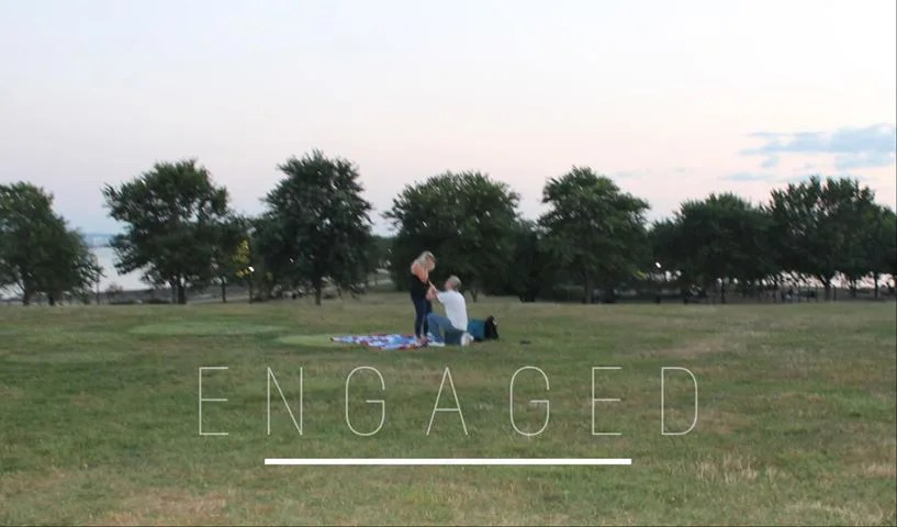 Picnic proposal in Massachusetts