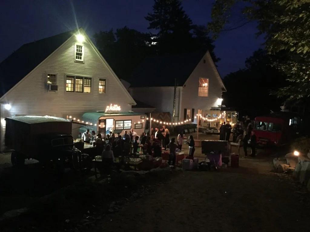 Night food truck festival wedding