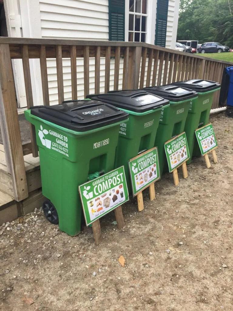 Garbage to Garden composting at wedding