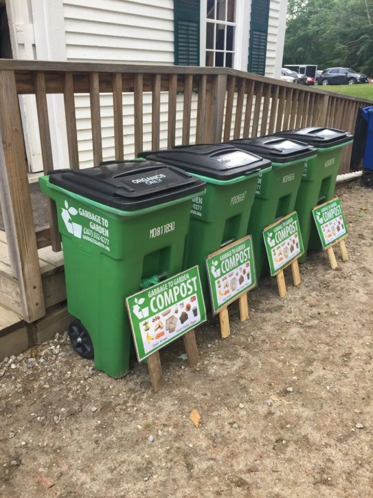 Garbage to Garden composting at wedding