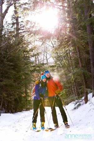 Ski wedding couple