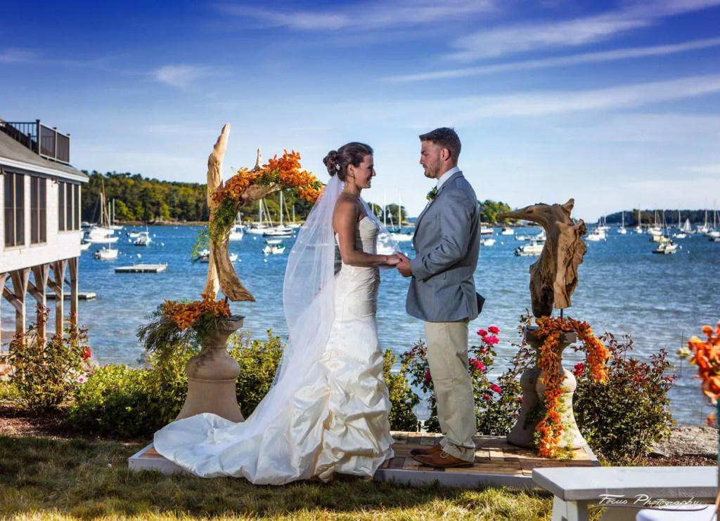 Wedding on Maine Ocean