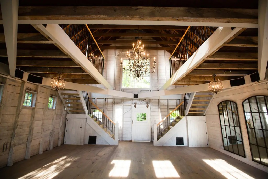 Interior Maine wedding barn