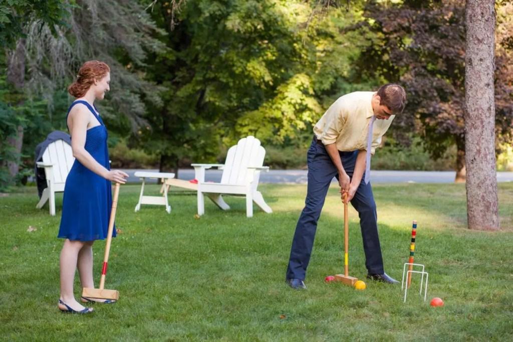 croquet wedding in Maine