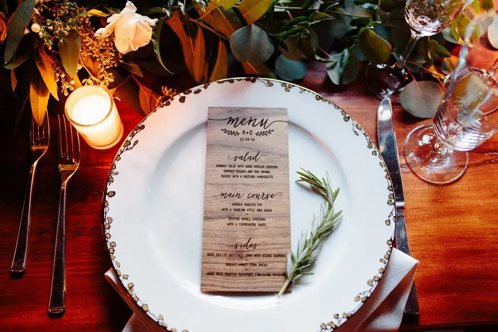 Tablescape winter wedding