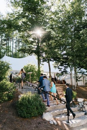 Maine wedding venue includes tent