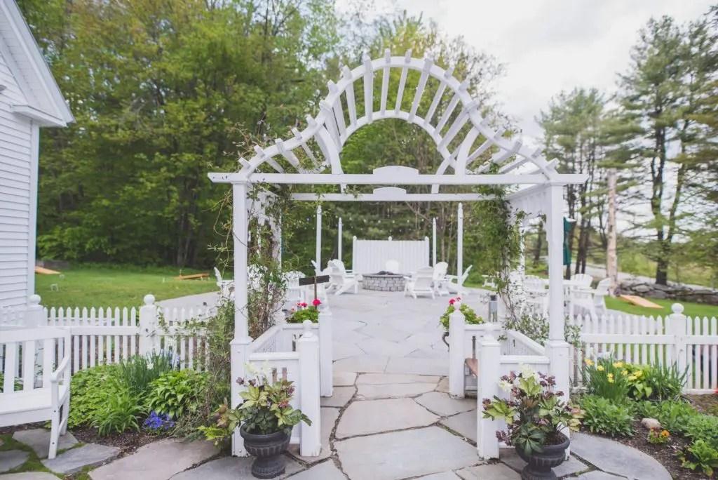 Arbor at Maine Spring wedding