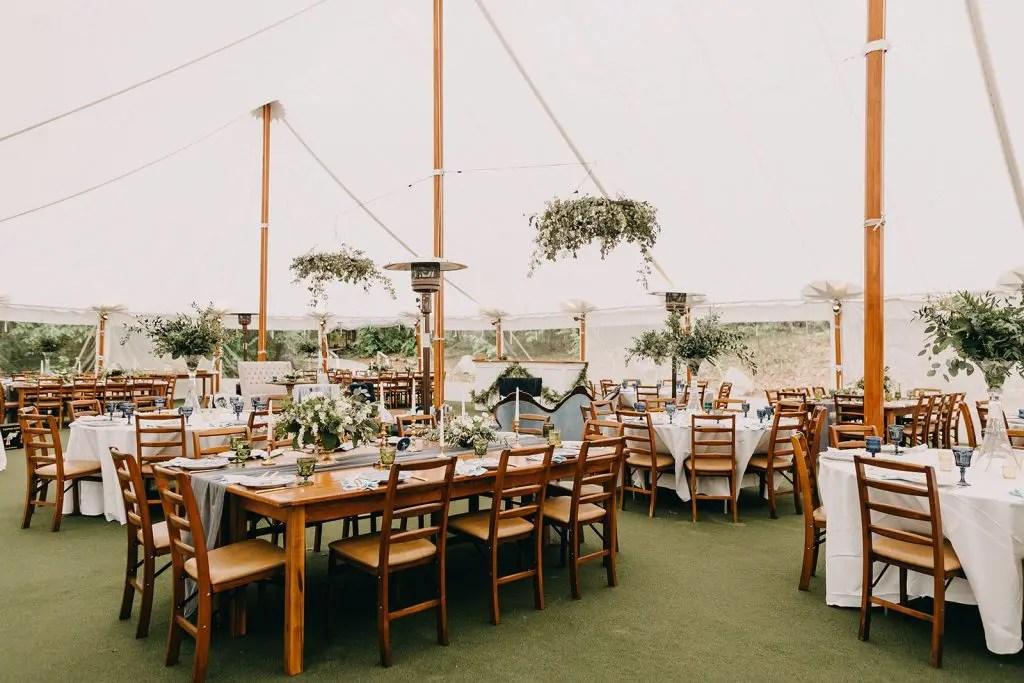 Maine Spring Wedding Tent