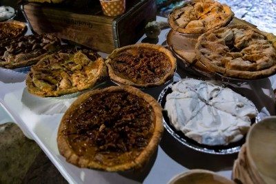 Maine wedding pies - dessert table