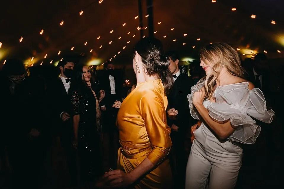 wedding jumpsuit maine tent wedding