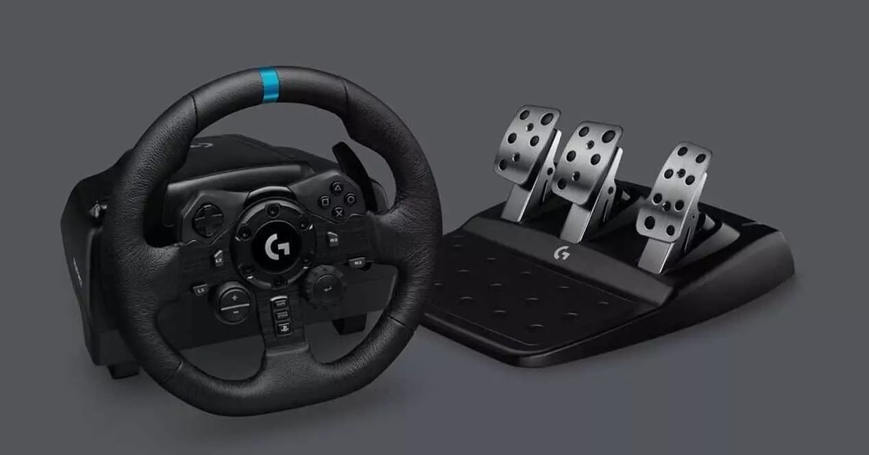 Logitech G923 TRUEFORCE, steering wheel and pedals for simulators