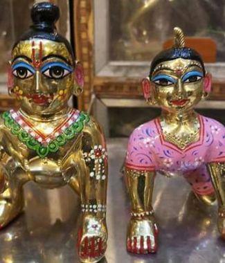 Laddu Gopal with Radharani