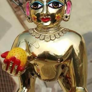 Gopal Deity / Laddu Gopal Deity 6 Inches Asthadhatu Metal Original