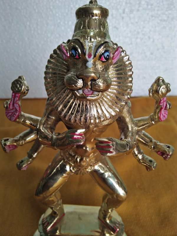 Lord Narashima Dev Deity Metal Original Asthadhatu
