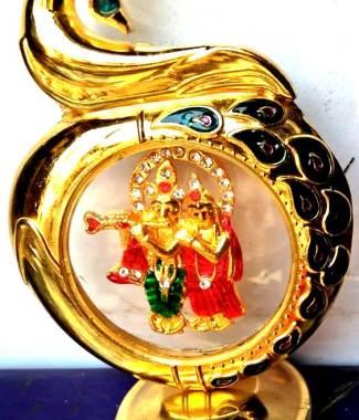 Radha krishna Peacock Car Dashboard