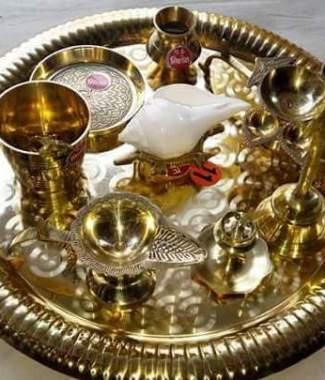 Aarti or Aarati Plate Set