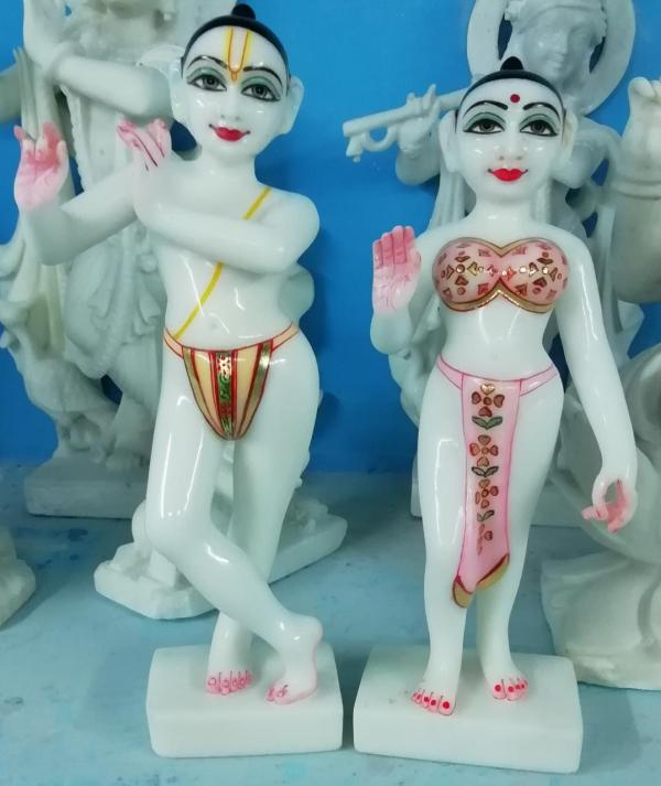 Marble Radha Krishna Deity / statue/