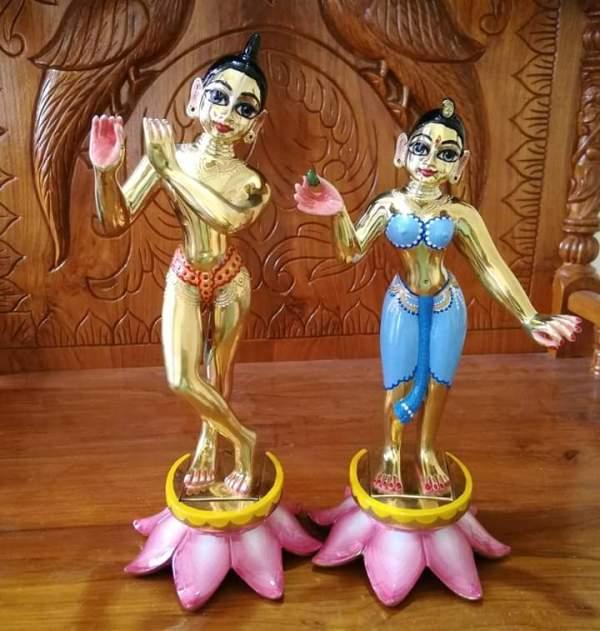 Radha Krishna Metal 10 Inches 6.5 Kgs