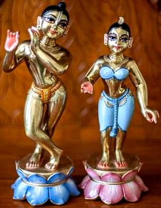 Radha Krishna Metal deities 10 inches