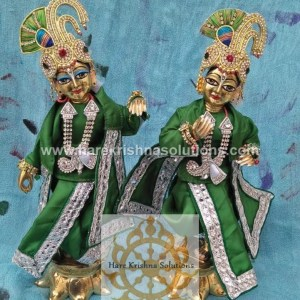 Krishna Balaram 10 inches PlainGreen (1)