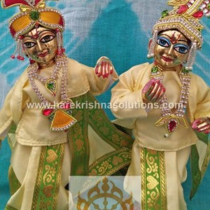 Krishna Balaram 10 inches light Yellow Dress (2)