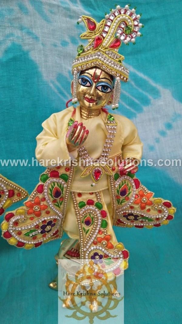 Krishna Balaram 10 inches light Yellow Dress (5)