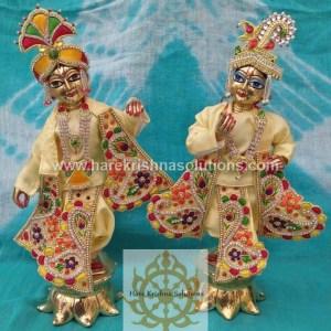 Krishna Balaram 10 inches light Yellow Dress (6)