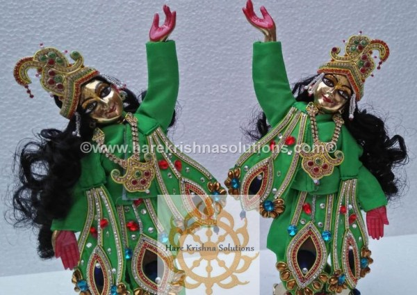 Gaura Nitai 12 inches Green (6)