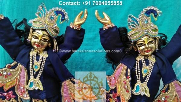 Gaura Nitai 12 inches Blue Dress (5)