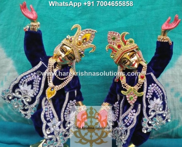Gaura Nitai 12 inches Dark Blue -White Flowers 1