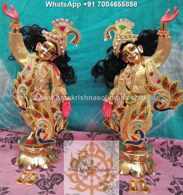 Gaura Nitai 12 inches Golden Dress 1