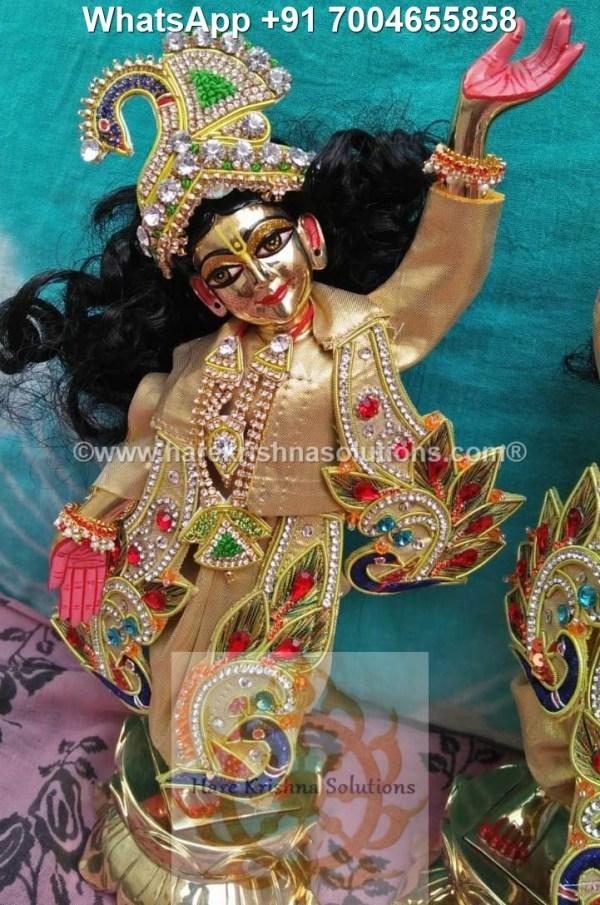 Gaura Nitai 12 inches Golden Dress 2