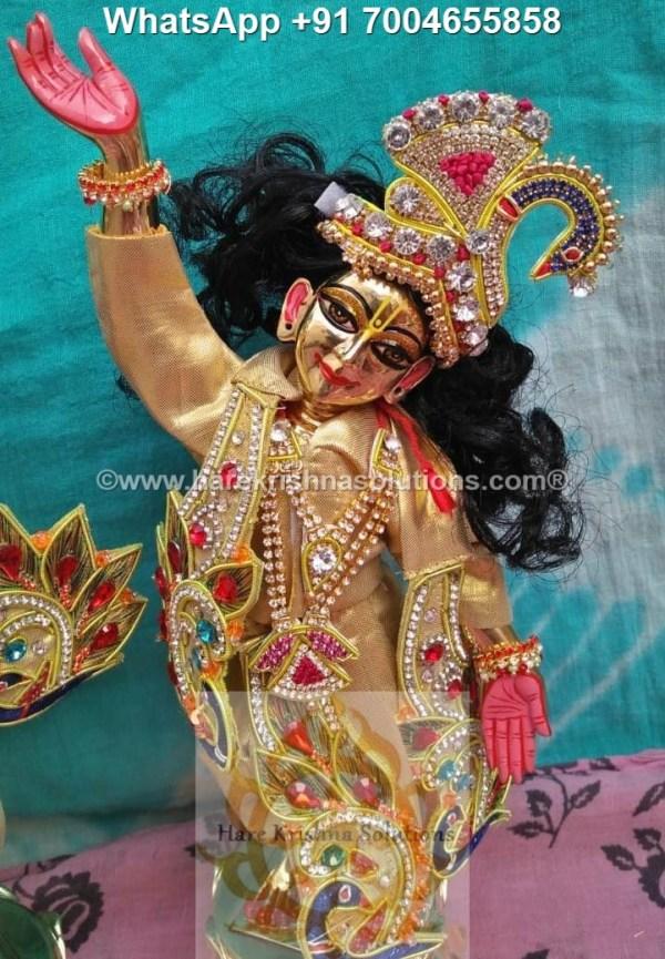 Gaura Nitai 12 inches Golden Dress 5