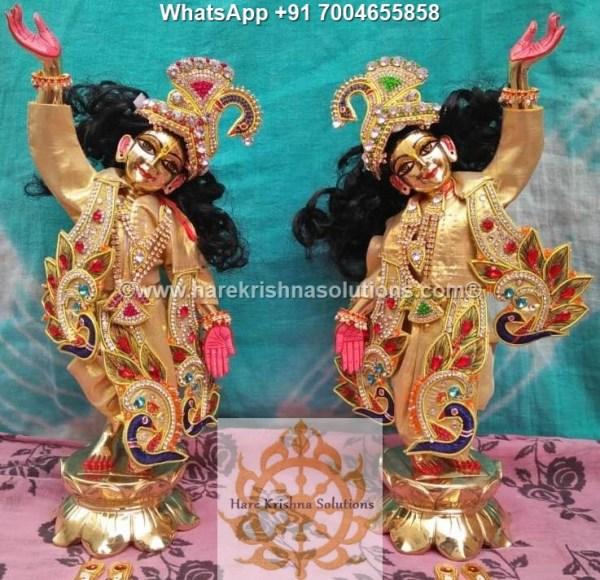Gaura Nitai 12 inches Golden Dress 9